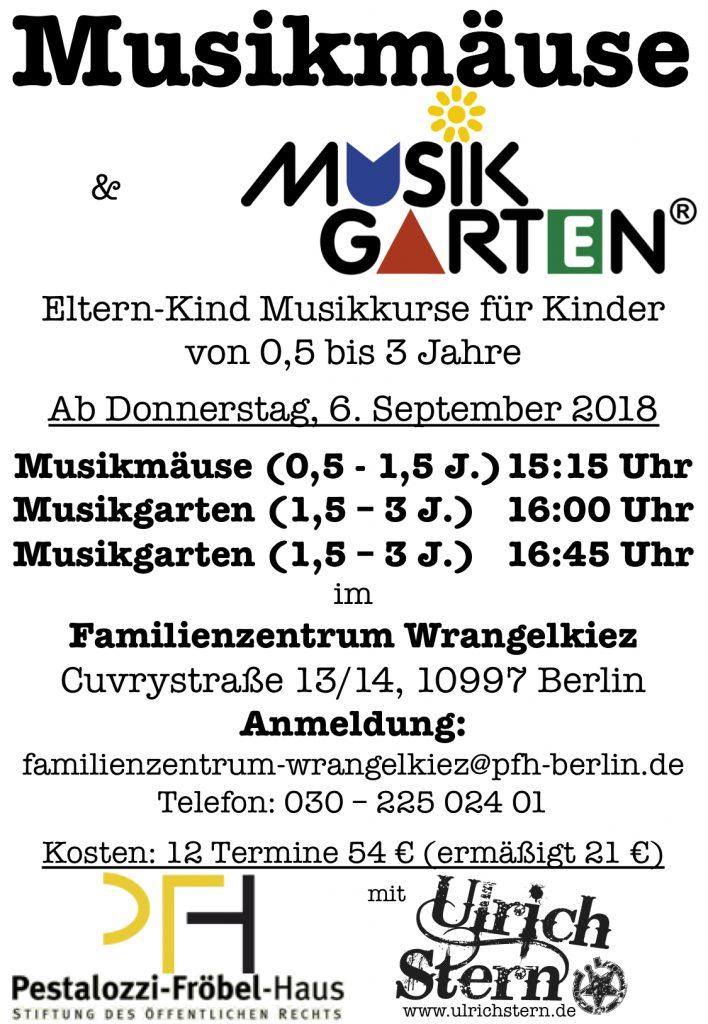 Ulrichs Eltern-Kind Musikkurse im Wrangelkiez ab dem 6. Sept 2018